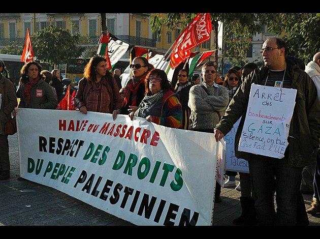 Manifestation au Nice contre l'agression israélienne à Gaza - 17/11/12