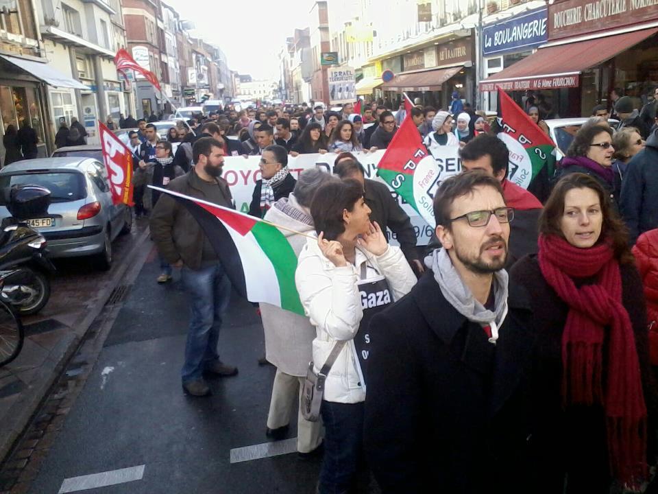 Manifestation au Lille contre l'agression israélienne à Gaza - 17/11/12